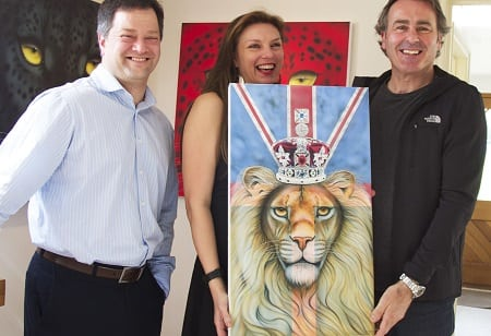 Featured Image a - 1 l to r Tal Lambert from Soldiering On, Jo and Paul Martin from BBC's Flog It