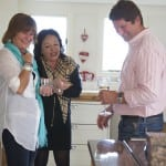 The Kitchen Designer Stephen Graver and his wife Amanda (lhs) with Sally Le Chemenent