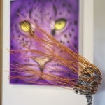 The Purple Leopard and Rachel-Ducker's Wire Sculpture