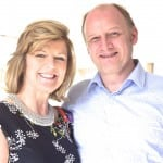 Interior Designer Sue O'Connor with Joanna May's husband David Ladd