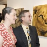 12 The gold leaf lion and other clients enjoying the exhibition