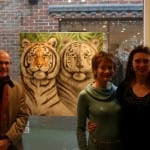 13 The first painting to sell at the exhibition 'Tiger Tiger'