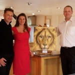 16 Chris Packham auctioned this Lion Painting to the highest bidder, it made £4,000