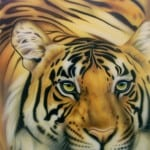 19 Tiger painting