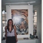 20 Joanna May in front of the Tiger