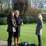20 Joanna being interviewed at Le Manoir