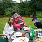 20 Lord Bath and Ellen Lester with Joanna May in Lord Bath's private garden