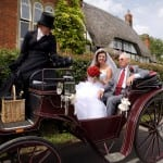 4 Jo with her Dad on the horse and carriage