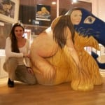 8 The full fertility goddess and me with the Elephant in my Gallery - the photo used for the press.