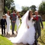 8 Walking from the church after Jo and David Ladd's marriage