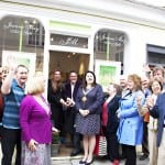1Cutting the Ribbon with  clients, Paul Martin from BBC's  Flog It and Mayor of Devizes