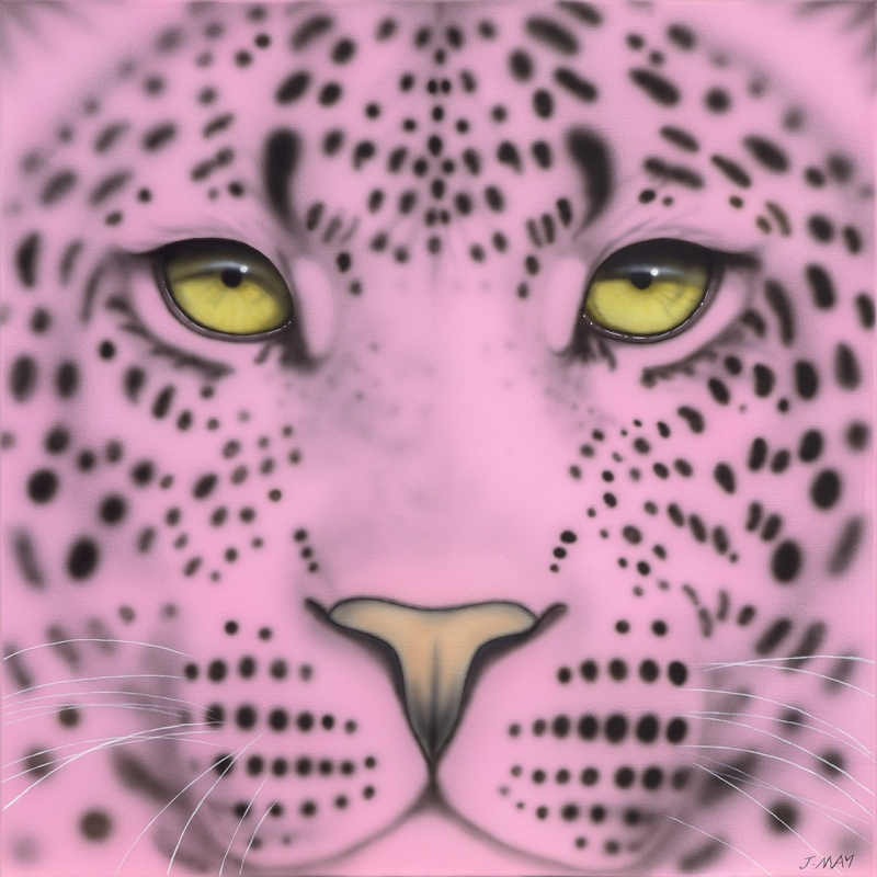 Pale Pink Leopard