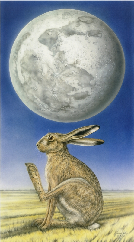 The Hare in Moon